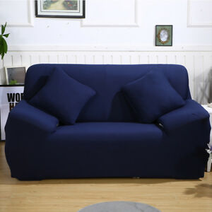 Miraculous Details About Stretch Chair Sofa Cover 2 Seater Protector Loveseat Couch Cover Slipcover Blue Short Links Chair Design For Home Short Linksinfo