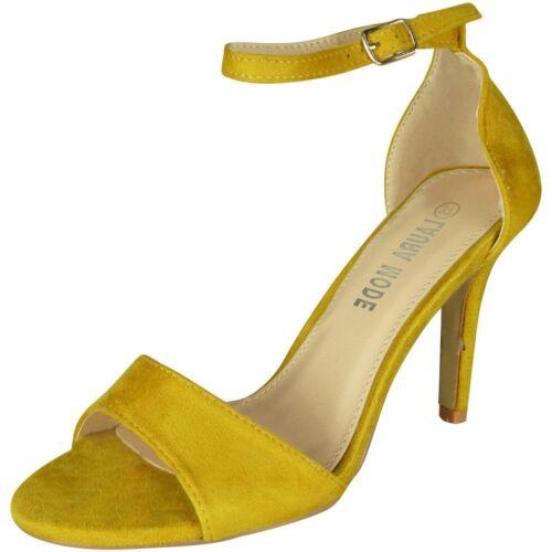 Womens Ladies Peeptoe Sandals High Heel Party Wedding Bridesmaids New Shoes Size