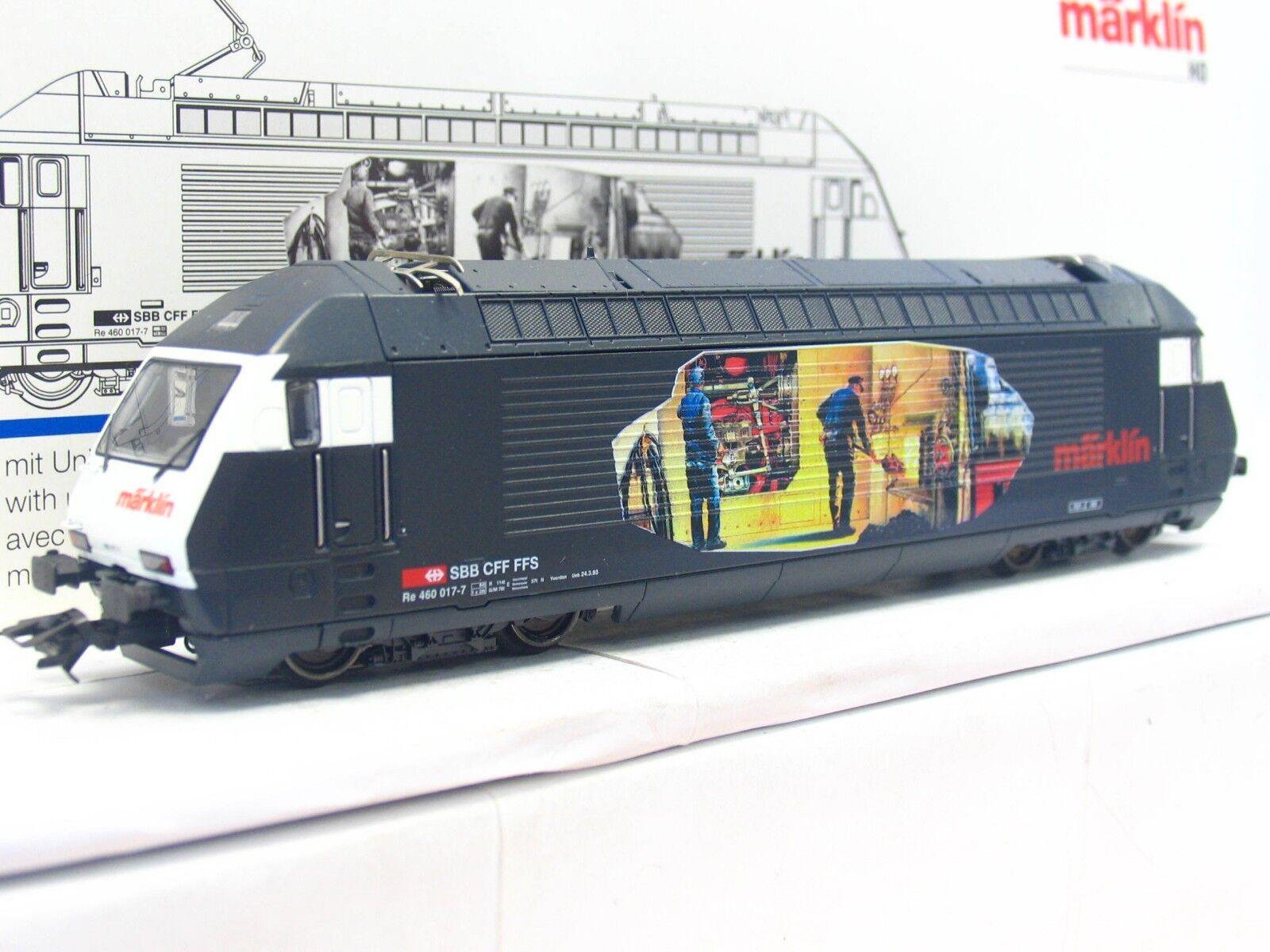 Märklin H0 3451 E-Lok Re 460 017-7 Heizerlok SBB CFF FFS Delta OVP (V3105)