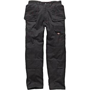 Dickies Redhawk Action Multiple Pocket Trousers Black /& 1 Pair of Boot Socks