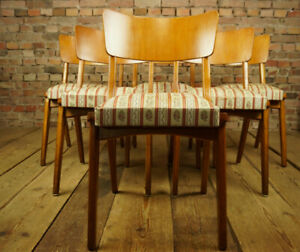 60er-6x-Vintage-Stuehle-Danish-Retro-Designer-Set-Esszimmer-Stuhl-MidCentury