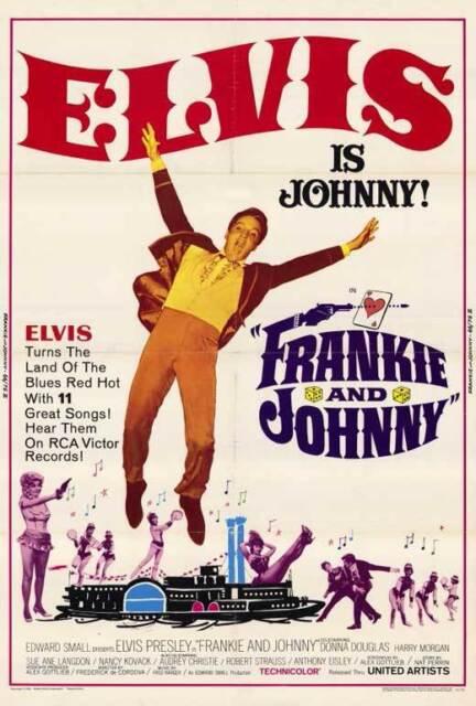FRANKIE AND JOHNNY Movie POSTER 27x40 Elvis Presley Donna Douglas Harry Morgan