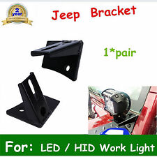 Universal A Pillar Hood Led Work Light bar Mount Bracket Clamp Holder Offroad