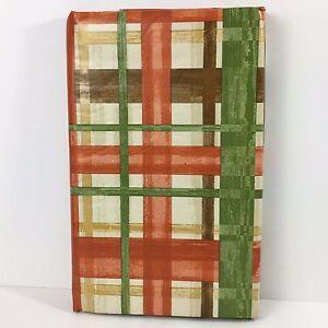 Image Is Loading Fall Vinyl Tablecloth Bountiful Harvest Autumn Plaid Elrene