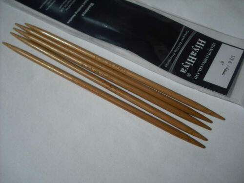 "HiyaHiya 2.25mm x 15cm 6/"" Bamboo DPN/'s Double Point Knitting Needles"