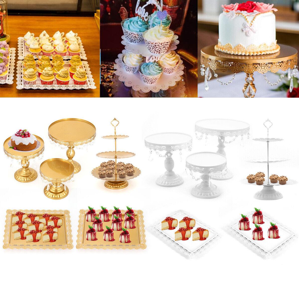 3 6pcs Set Luxus Torten Dessert Ständer Hochzeitstorte Kuchenteller Tortenplatte