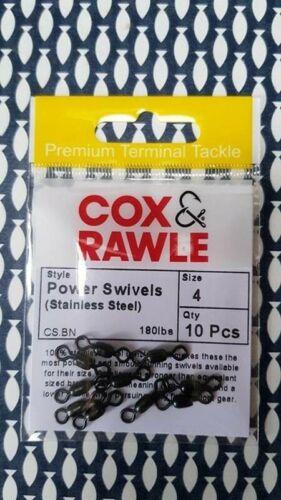 environ 81.65 kg Cox et Rawle Acier Inoxydable Puissance Émerillons Taille 4-180 LB