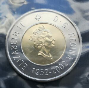 CANADA-TOONIE-2002-GOLDEN-JUBILEE-PROOF-LIKE-SEALED-COIN
