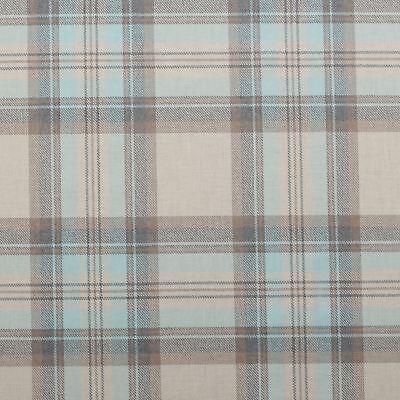 Westport Checked woven Cotton Curtain//Craft Fabric Duckegg