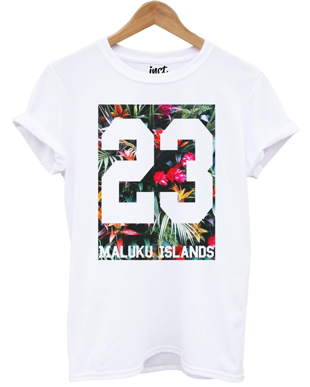 7ba4a570dbc Maluku Islands T Shirt Fresh Summer Floral Balearic Baseball Holiday Mens  ManFunny free shipping Unisex Casual tee gift