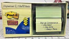 Post It Super Sticky Pop Up Notes Dispenser 3 78 Square 3 Refills Nip New