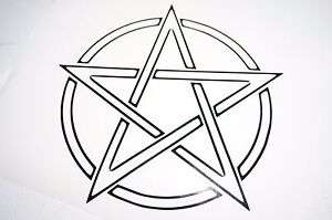 Bumper-car-Vinyl-Sticker-Motorbike-decal-window-Bike-vehicle-pentagram-pentacle