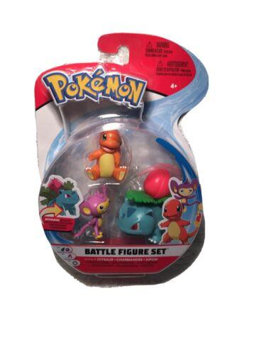 Pokemon Battle Figure Set 3 Pack Aipom NEW* Ivysaur Charmander