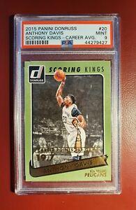 2015-16-NBA-serie-numerada-Donruss-puntuacion-Reyes-Anthony-Davis-tarjeta-de-PSA-9