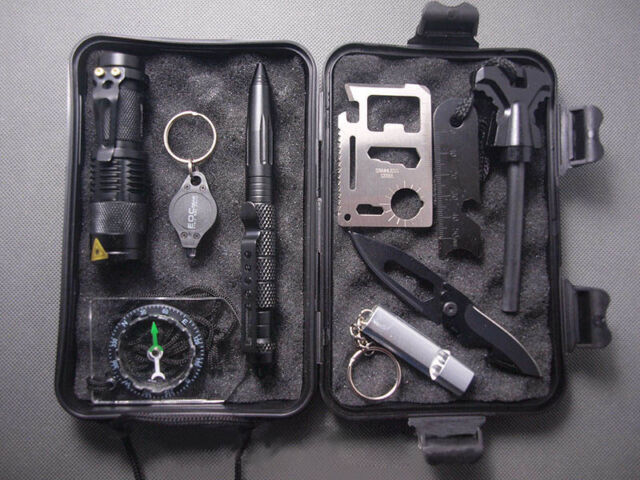10 in1 Professional Survival Kit Outdoor Travel Hike Field Camp Emergency Kits