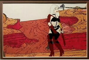 HEAVY METAL TAARNA CONCEPT CEL ON COPY OF PRODUCTION BACKGROUND, MINT FRAMED