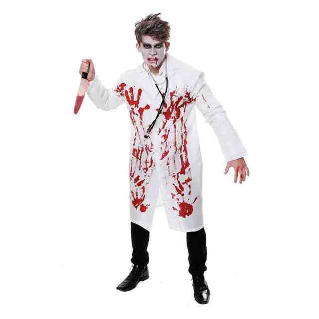 DOCTOR NURSE SCIENTIST LAB COAT HALLOWEEN One Size mens fancy dress costume