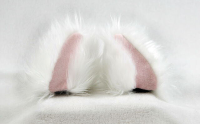 3091 CLAWH PAWSTAR NECOMIMI SLEEVES ONLY White Pink KITTY cat cosplay Ears