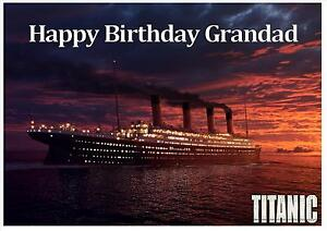 Image Is Loading Titanic Ship D1 Boat Sea Birthday Personalised A4