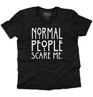 Normal People Scare Me Funny USA TV Horror Story Gift Funny V-Neck T-Shirt