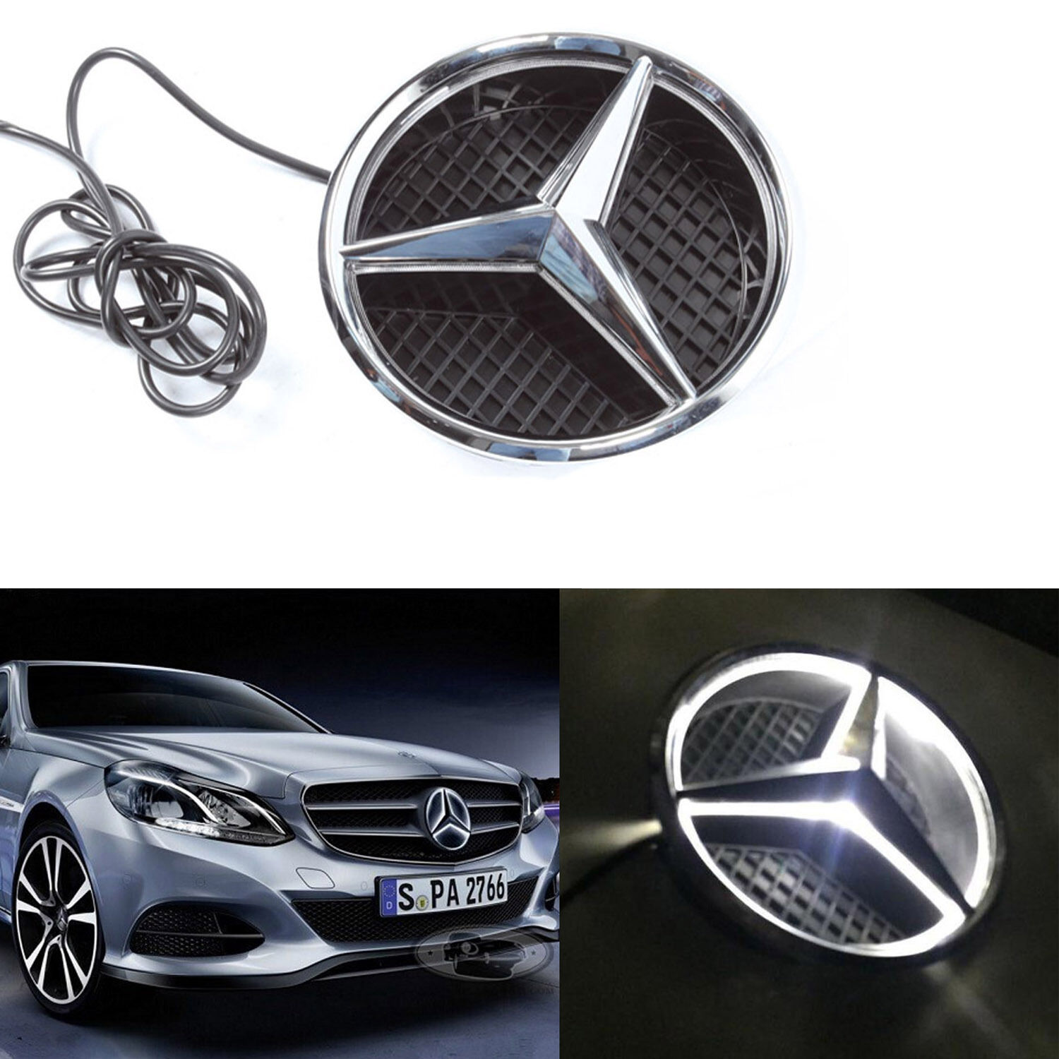 LED Light Front Grille Grill Star Emblem For 2011-2017 Mercedes Benz COMBO CREE