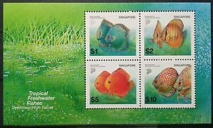SINGAPORE-2002-TROPICAL-FRESHWATER-FISH-FISHES-MINIATURE-SHEET