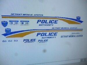 Details about Detroit Michigan Medical Center Police Patrol Car Decals 1:24  Custom