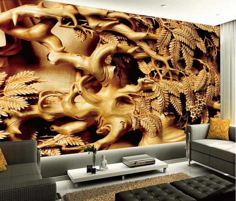 3D Holzschnitzerei 864 Tapete Wandgemälde Tapete Tapeten Bild Familie DE Summer  | Glücklicher Startpunkt  | Ausreichende Versorgung  | Deutschland Online Shop