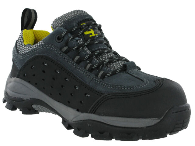 Grafters Composite Non Metal Lightweight Safety Toe Cap Nubuck Trainers Shoes
