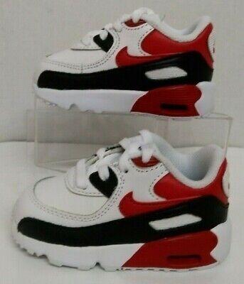 Nike Air Max 90 LTR TD 833416 107 White//University Red-Black Infant/'s size
