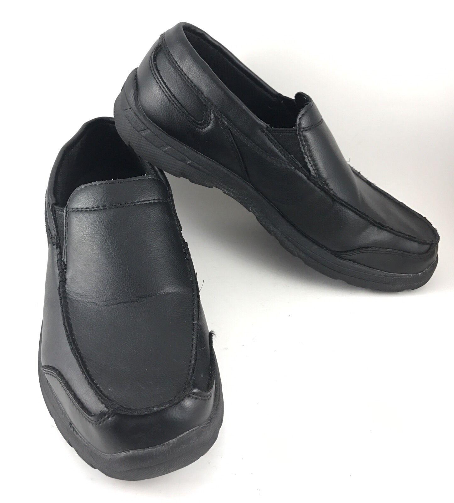 Mens TredSafe Slip Casual Resistant Size 9 Black Leather Dress Casual Slip SlipOn Loafers-78 e17db3