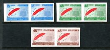 Philippines 1239a-1241a imperf pairs, MNH.Community Chest.Red Feather Emblem