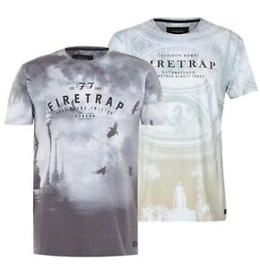 Mens-Firetrap-Lightweight-Short-Sleeves-Printed-Sub-T-Shirt-Sizes-from-S-to-XXL