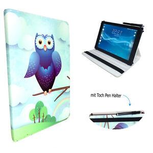 Tablet Schutzhülle für Odys Xelio Next 10 Etui 10.1 Zoll Blau Eulen 360