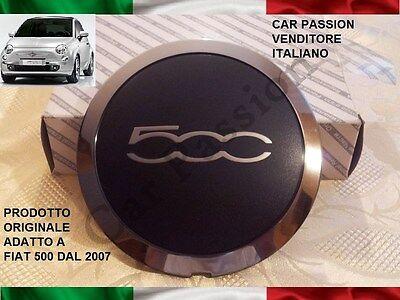 1X coppa ruota FIAT 500 ABARTH GRANDE PUNTO EVO ORIGINALE coprimozzo center cap