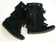 Minnetonka 3 Layer Fringe Boots in Black - Child 13UK 31EU 1US