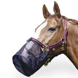 Horse-Full-Nose-Net-Fly-Pollen-Muzzle-Filter-Shield-Pony-Cob-Full-Size-Black
