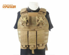1000D SPC Tactical Assault Molle Plate Carrier Vest w/ Magazine Pouch Hunting CB