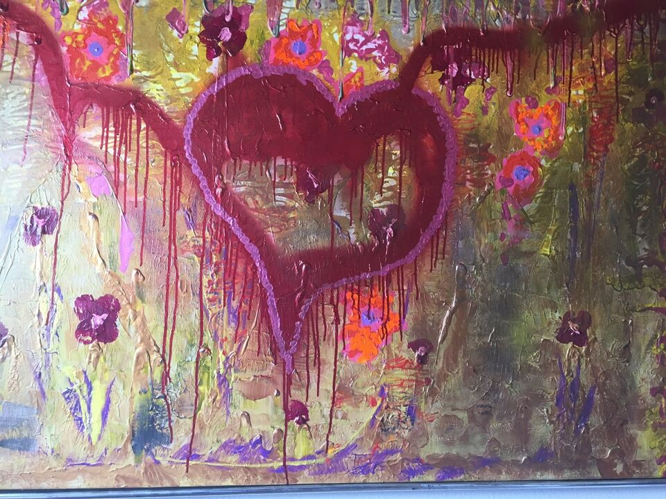 Akrylmaleri, B. Pilgrim, motiv: Religiøs/Spirituel