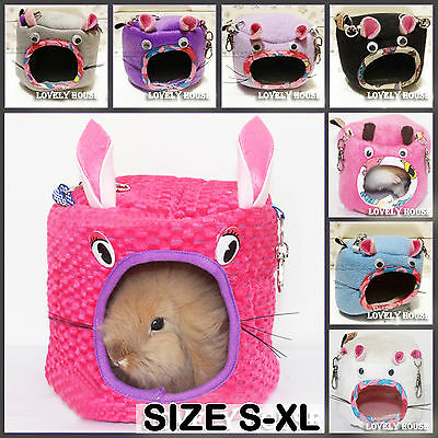 Cute Hammock for Ferret Rabbit Rat Hamster Parrot Squirrel Hanging Bed Toy House
