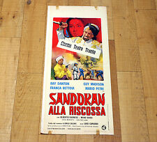 SANDOKAN ALLA RISCOSSA locandina poster Guy Madison Ray Danton Salgari U14
