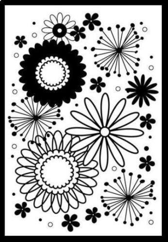 Darice 5x7 Embossing Folder ~FLOWER POWER Background~ CardMaking 1217-66