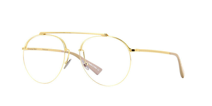 CHRISTIAN ROTH REDUCER Eyewear Model.CRX001 Color. Gold Size 55 BRAND-NEW