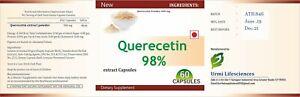 Quercetin-98-Rein-Kapseln-500-Mgs-Unterstuetzung-Immun-Gesundheit-Antioxidant