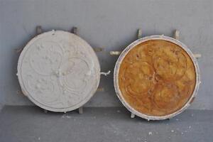 Moule-ancien-d-039-atelier-de-platrier-staffeur-rosace-style-Louis-XV