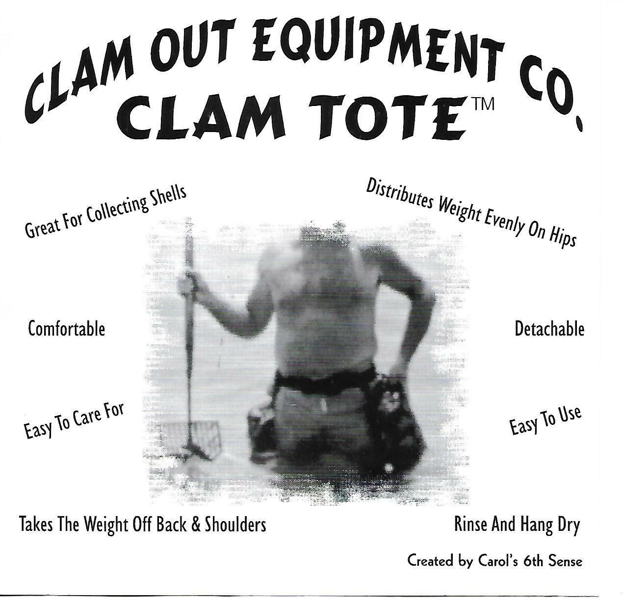 Clam  Out Equipment Co. Clam Tote Collecting Shells, Clams Detachable Bags  discount sales