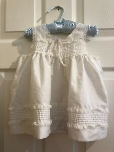 Vintage-Cotton-Baby-Girl-039-s-Dress-Sweet-Lace-Trim