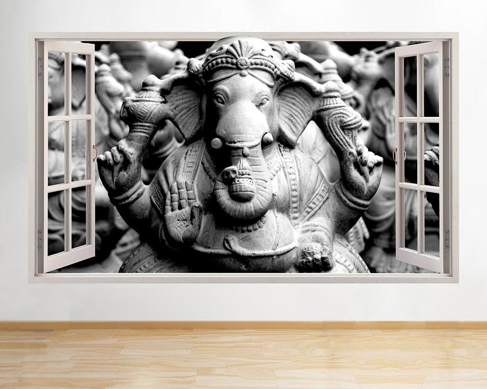 D625 Ganesh Elephant Dieu fenêtre Living W Autocollant Chambre 3D Vinyle enfants