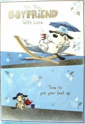 "Cute Bear Sleeping in Hammock /"" GRANDAD /"" Birthday Card"