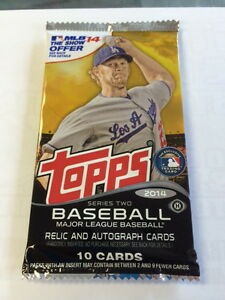 TOPPS-BASEBALL-2014-SERIES-TWO-1-SEALED-PACK